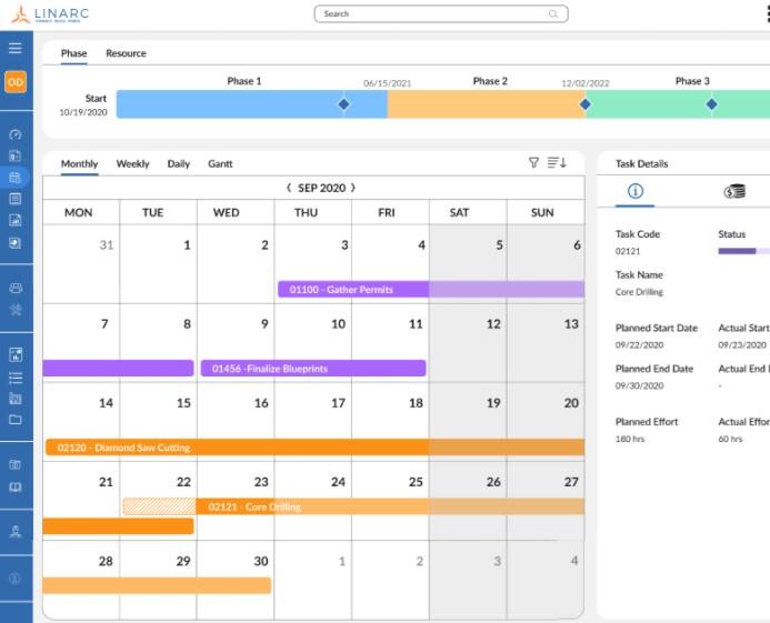 Linarc Schedule View