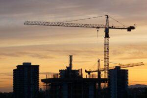 Construction Crane Sunset