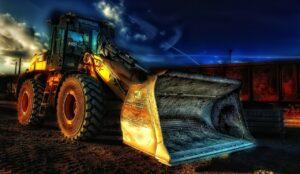 Excavator at Night